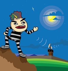 Prisoner escape from prison vector