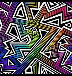 Rainbow color geometric seamless pattern vector