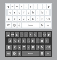 realistic mobile keyboard template vector image