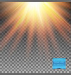 Realistic transparent sunburst light effect vector