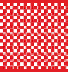 red and white tablecloth pattern vector image
