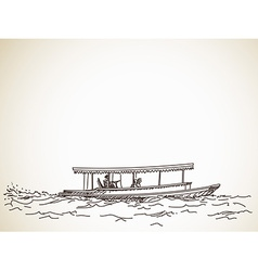 Sketch of boat taxi vector image