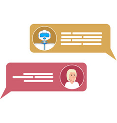 Smart chatbot for your business concept vector