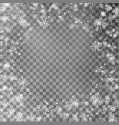 snowflake border isolated on transparent ba vector image