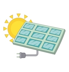 Solar battery icon cartoon style vector