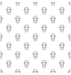 spa body silhouette pattern seamless vector image