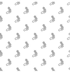 spa hand care pattern seamless vector image