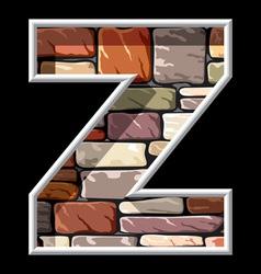 Stone letter z vector