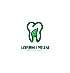 Tooth logo design template vector