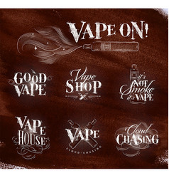 vape symbols brown vector image