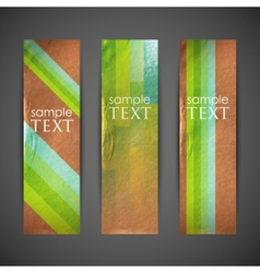 Vintage banners with colorful ribbons vector