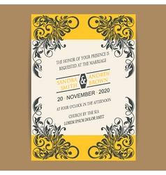 Wedding vintage invitation vector