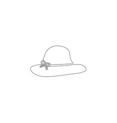 women hats flat icon vector image