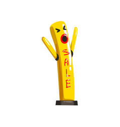 Yellow dancing inflatable tube man with waving vector