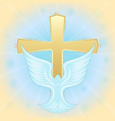 baptism of jesus dove in the sky against the vector image