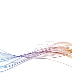 Bright satin color wave particle flow vector image vector image