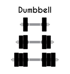 dumbbell sport equipment cartoon style vector image