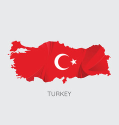 map of turkey vector image vector image