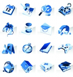 set of icons for website vector image vector image