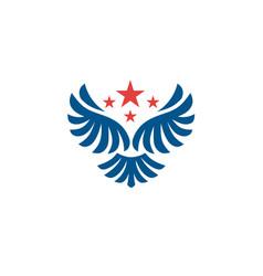 star wings logo wing logo company vector image