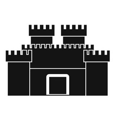 ancient fortress icon simple style vector image