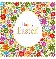 floral card easter celebration vector image