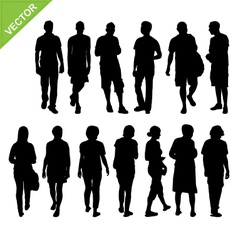 Peoples silhouettes vector