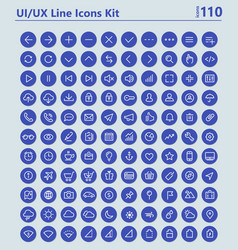 UI and UX Material big bold line icons kit vector image vector image