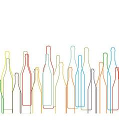 Background with bottles set vector image
