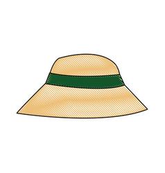 beautiful hat summer sun floppy image vector image vector image