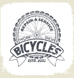 bicycles monochrome logo vector image