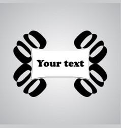 frame text vector image