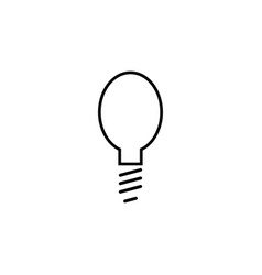 light bulb simple linear icon vector image
