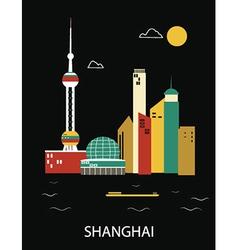 Shanghai China vector image