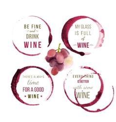 watercolor wine type designs vector image