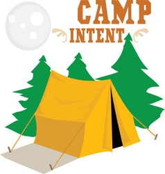 Camp Intent vector image