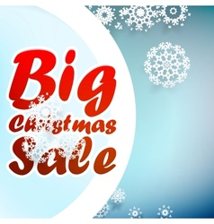Christmas sale design template EPS10 vector image vector image