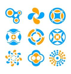 Circle logo elements vector image vector image