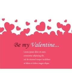 horizontal background Valentines Day vector image
