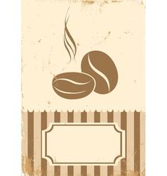 Retro paper coffee bean vector image vector image