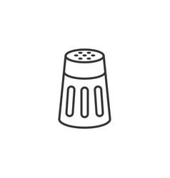 salt or pepper shaker in outline icon vector image vector image