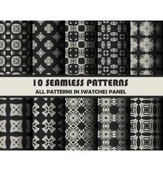set of geometric patterns for design vector image