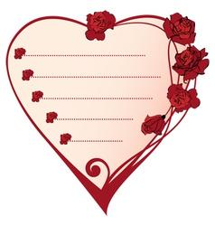 valentine frame vector image
