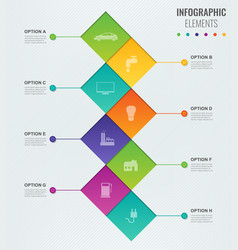 abstract 3d infographic template with 8 options vector image
