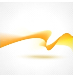 Abstract beautiful waves background Yellow vector image