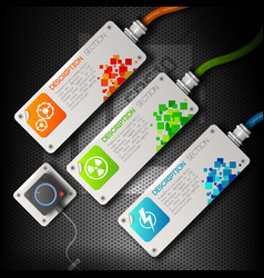 abstract technology banners set vector image