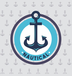 Anchor marine aquatic or nautical theme design vector