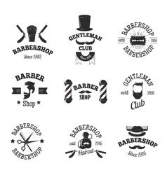 Barber shops symbols set vector