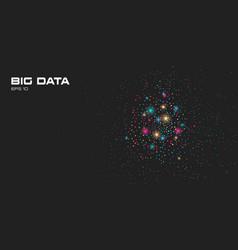 Big data visualization a cluster multi colored vector