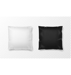 black and white pillow realistic orthopedic vector image